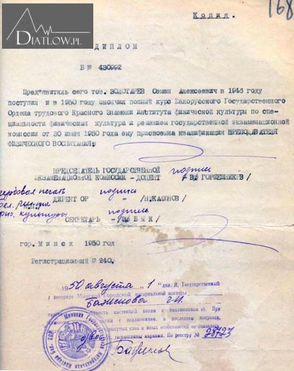 Siemion Zołotariow, archiwa ZSRR
