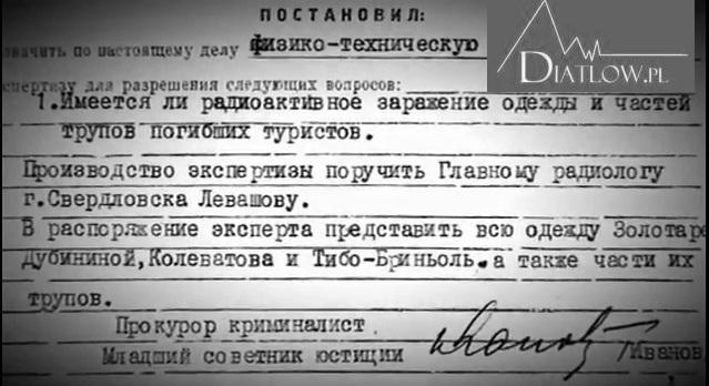 Tragedia naPrzełęczy Diatłowa - dokumenty śledcze