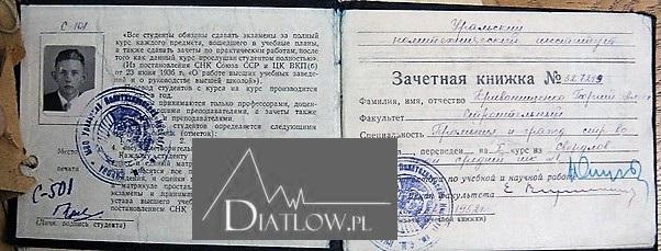 Jurij Kriwoniszczenko - indeks zPolitechniki Uralskiej
