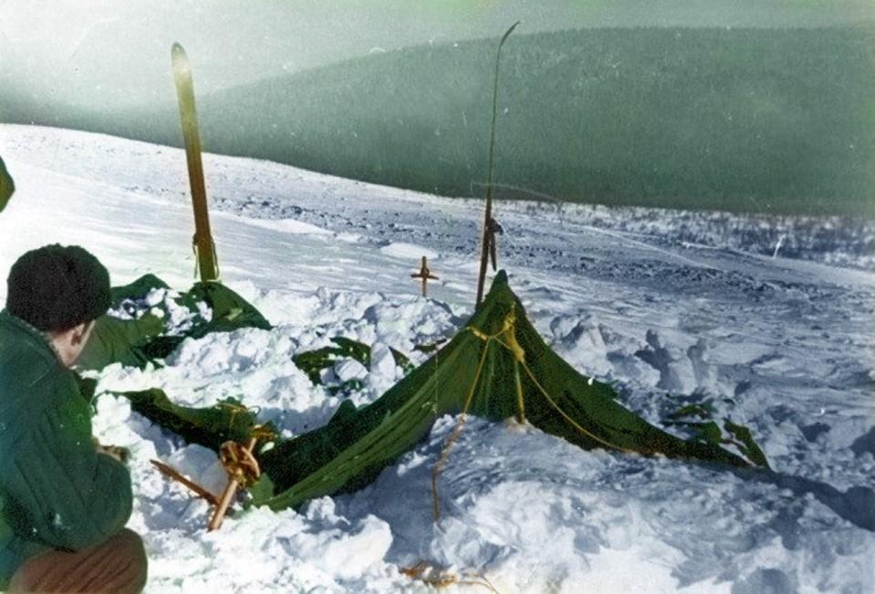 Tragedia naPrzełęczy Diatlowa - namiot turystów