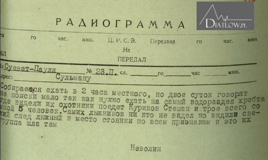 Przełęcz Diatłowa - akta śledcze