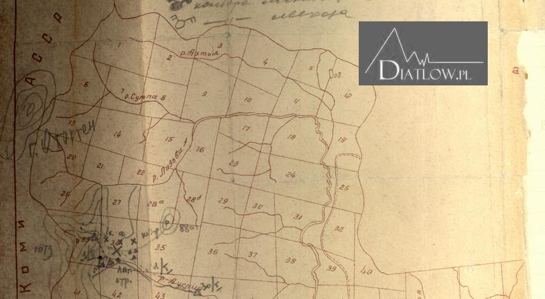 Przełęcz Diatłowa. Mapa prokuratora Iwanowa