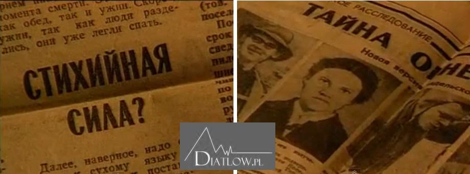 Tragedia naPrzełęczy Diatłowa, nagłówki gazet