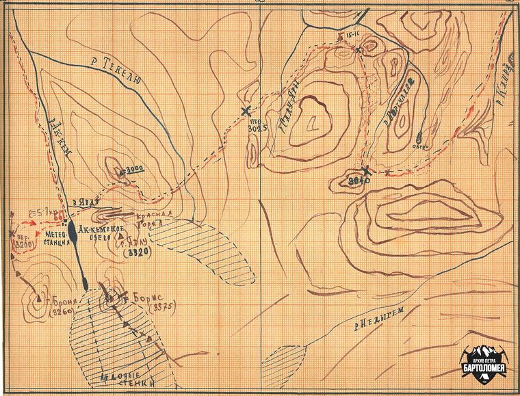Nikołaj Thibeaux-Brignolle - mapa wyprawy